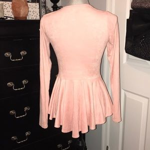 Modern Vintage Boutiqu Tops - Sexy Criss Cross Cut Out Long Sleeve Shirt Med.